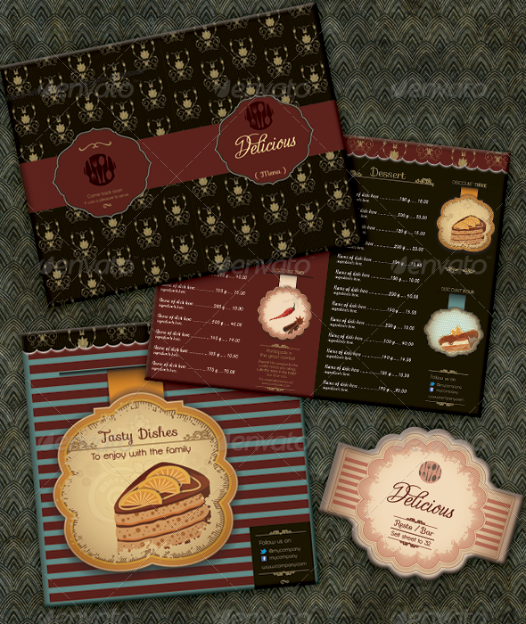 Menu for Restaurant - Food Menus Print Templates