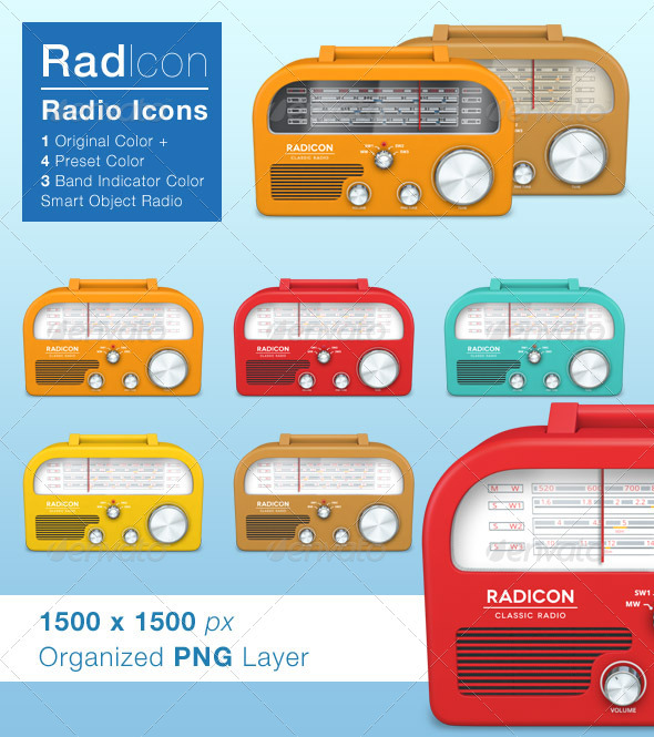 GraphicRiver Radicon Radio Icon 3337235
