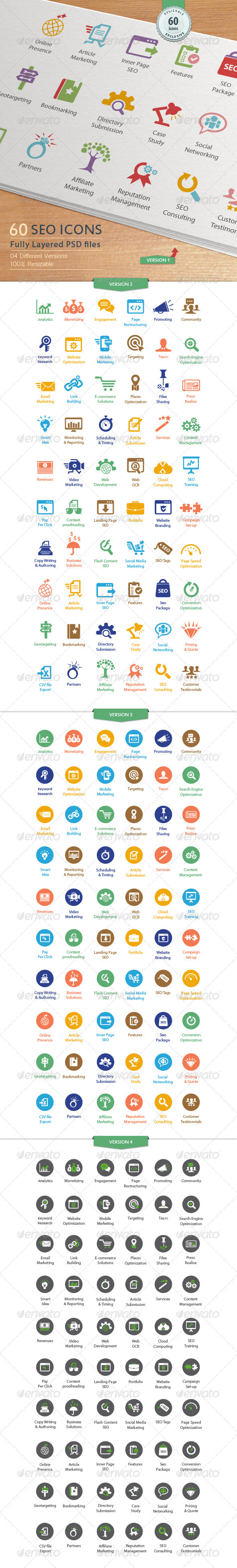 GraphicRiver SEO Services Icons 3337523