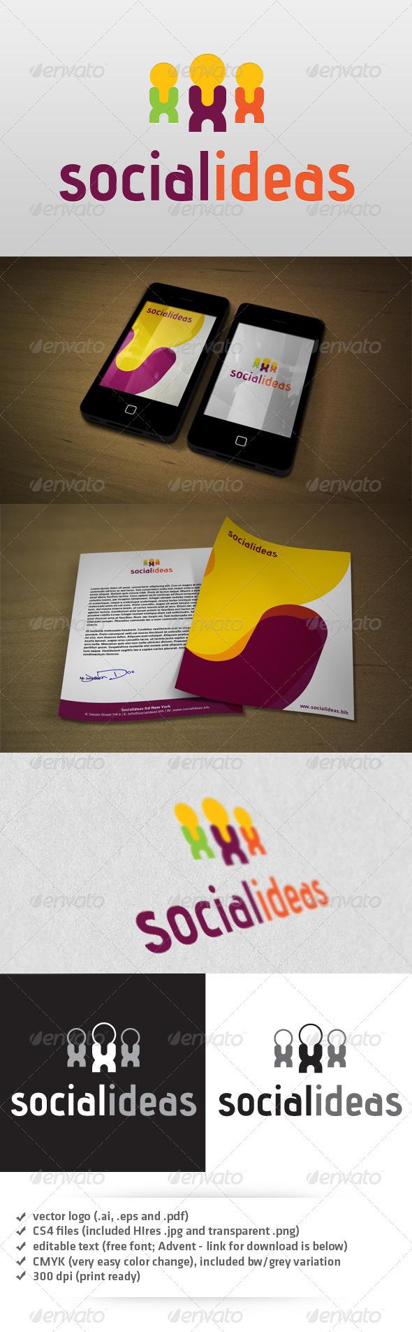 GraphicRiver Social Ideas Logo 3337703