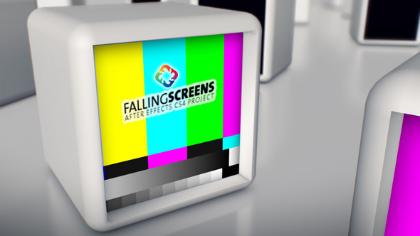 After Effects Project - VideoHive Falling Screens 3D 3298324