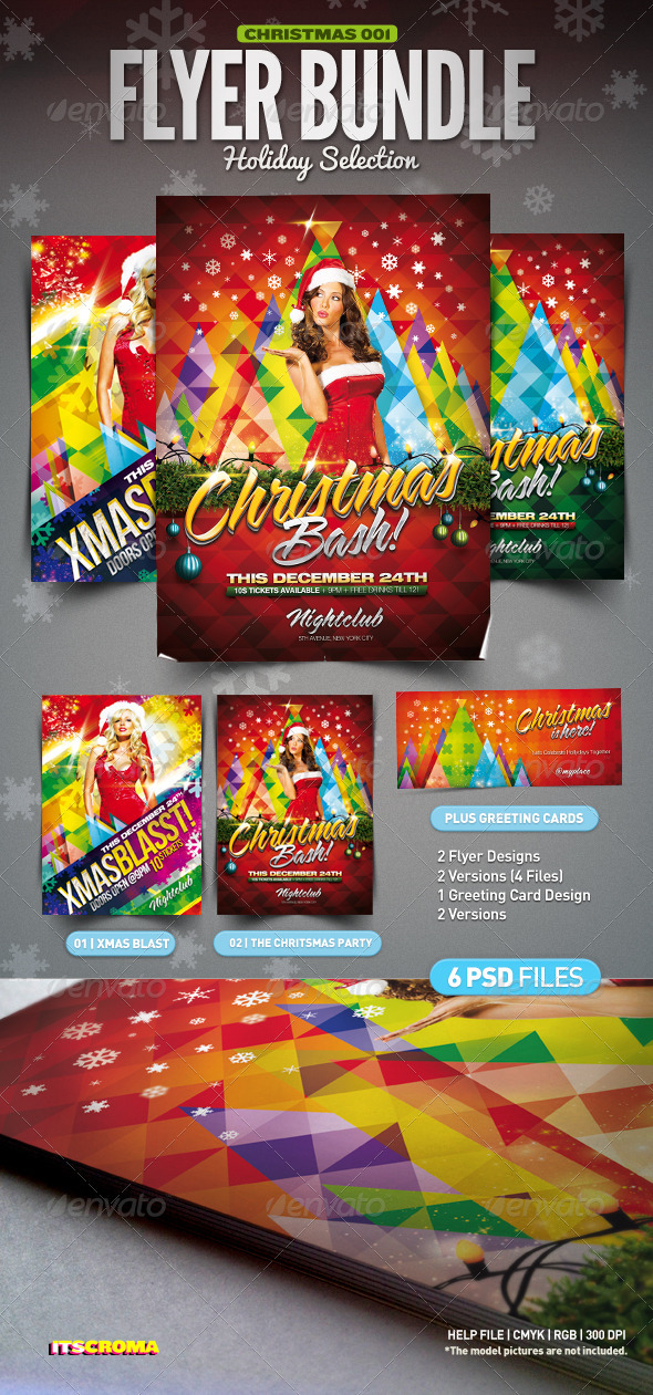 GraphicRiver Christmas Party Flyer Bundle 3338896