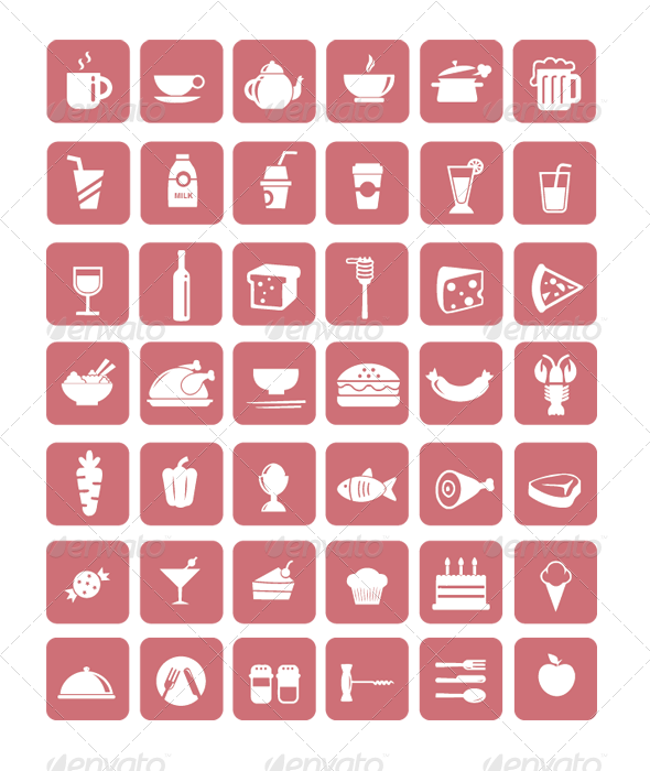 GraphicRiver Food Icons 3338978
