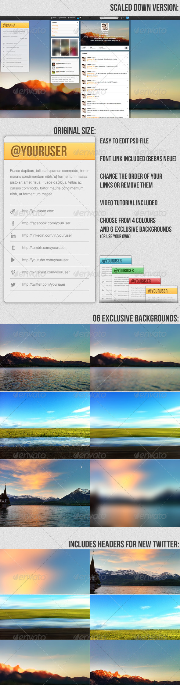 GraphicRiver Nature Twitter Background 3338983