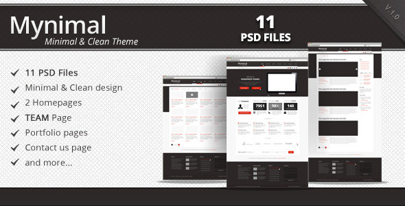 Mynimal - Clean & Minimal Corporate Theme - Corporate PSD Templates