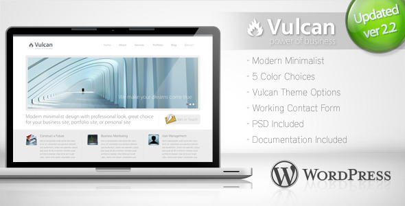 Vulcan - Minimalist Business Wordpress Theme 4 - ThemeForest Item for Sale