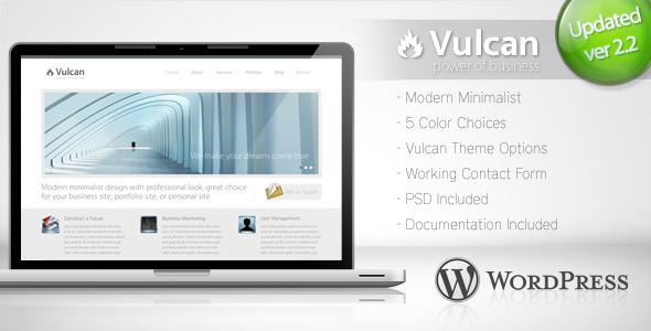 Vulcan - Minimalist Business WordPress Theme 4 - ThemeForest Item for Sale