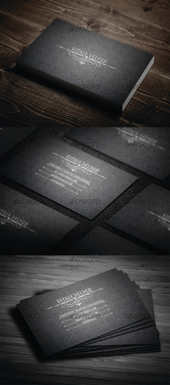 GraphicRiver Vintage Business Card N2 3339335
