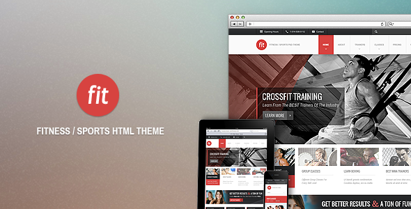 ThemeForest FIT Fitness Gym HTML Theme 3339520