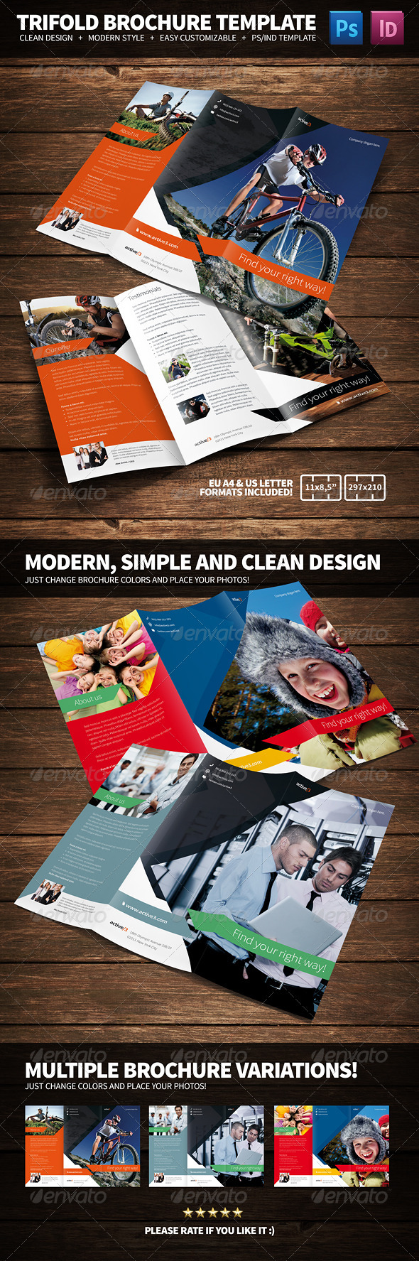 Activities Multipurpose Trifold Brochure - Corporate Brochures
