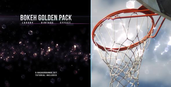 Bokeh Gold Vintage Pack