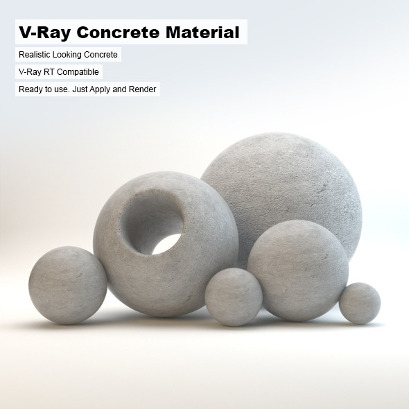 V-Ray Concrete Material - 3DOcean Item for Sale