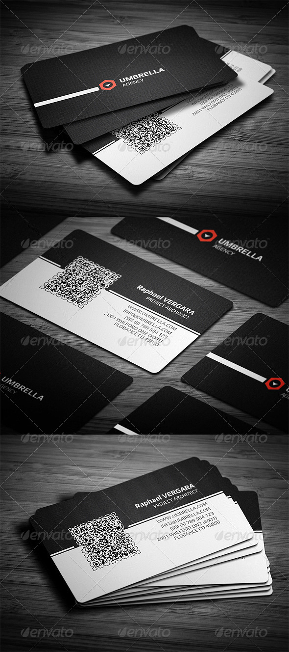 GraphicRiver Qr Corporate Business Card 3339880