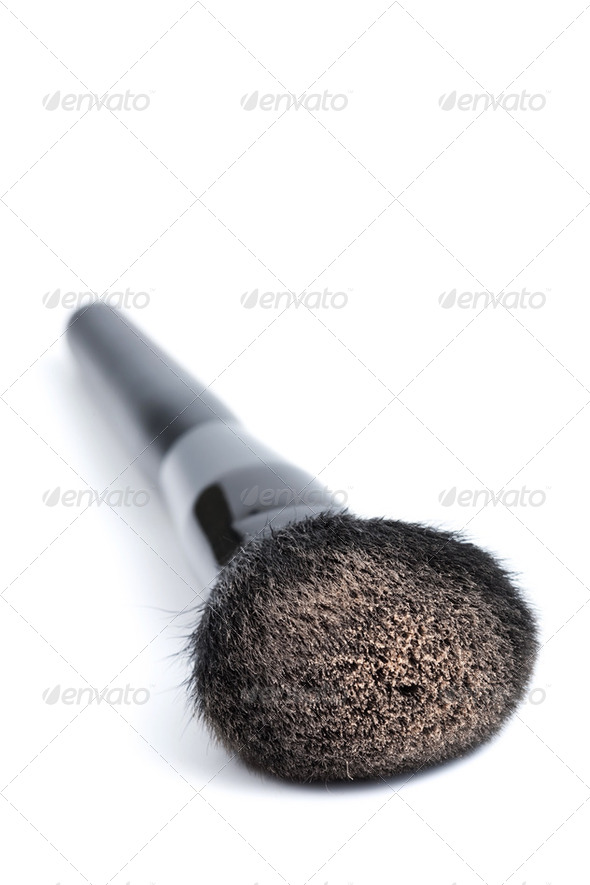 black cosmetic brush isolated - Stock Photo - Images