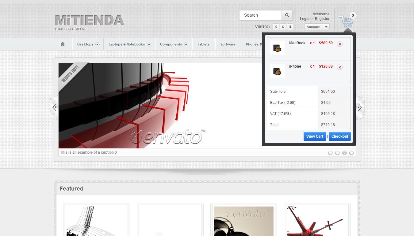 MiTienda - HTML Version