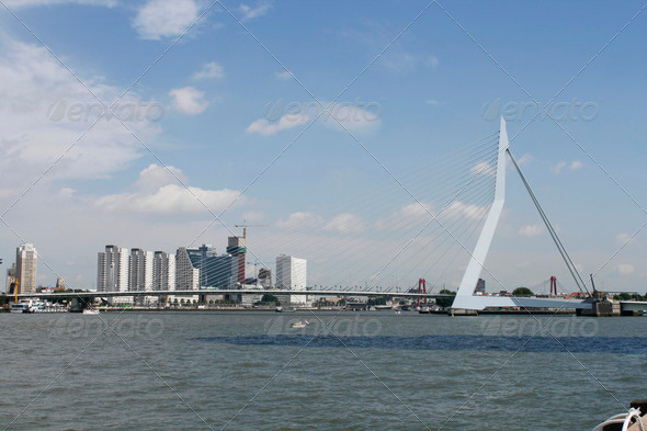 Skyline Rotterdam - Stock Photo - Images