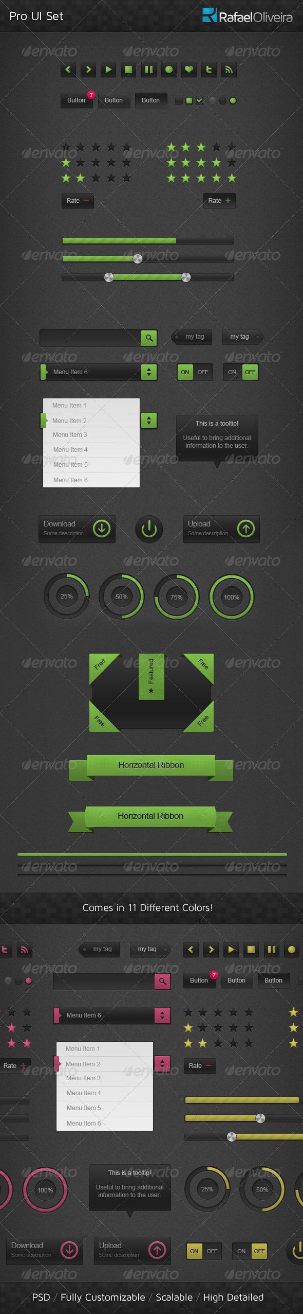 Pro UI Set - User Interfaces Web Elements