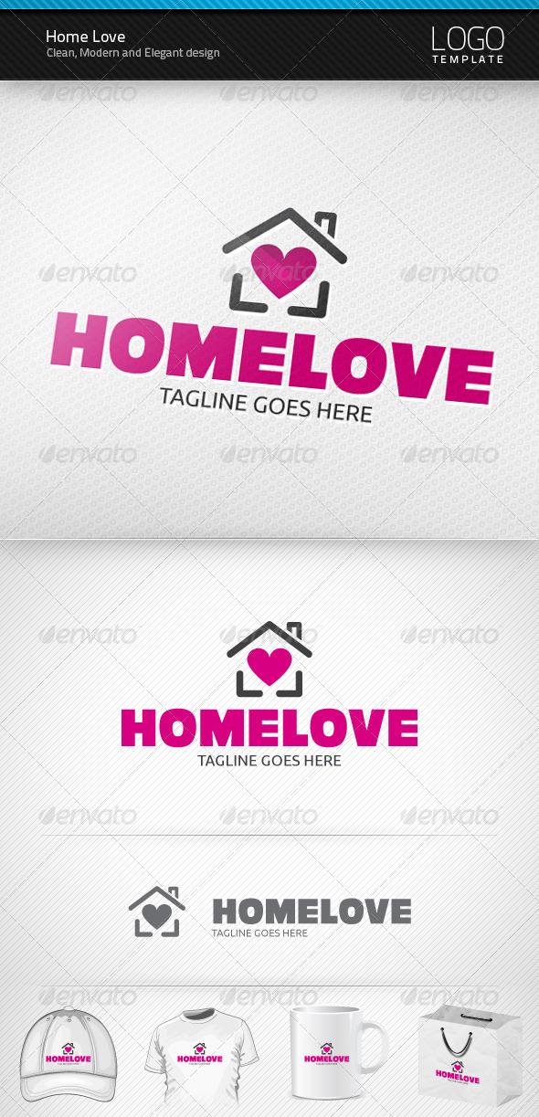 GraphicRiver Home Love Logo 3339938