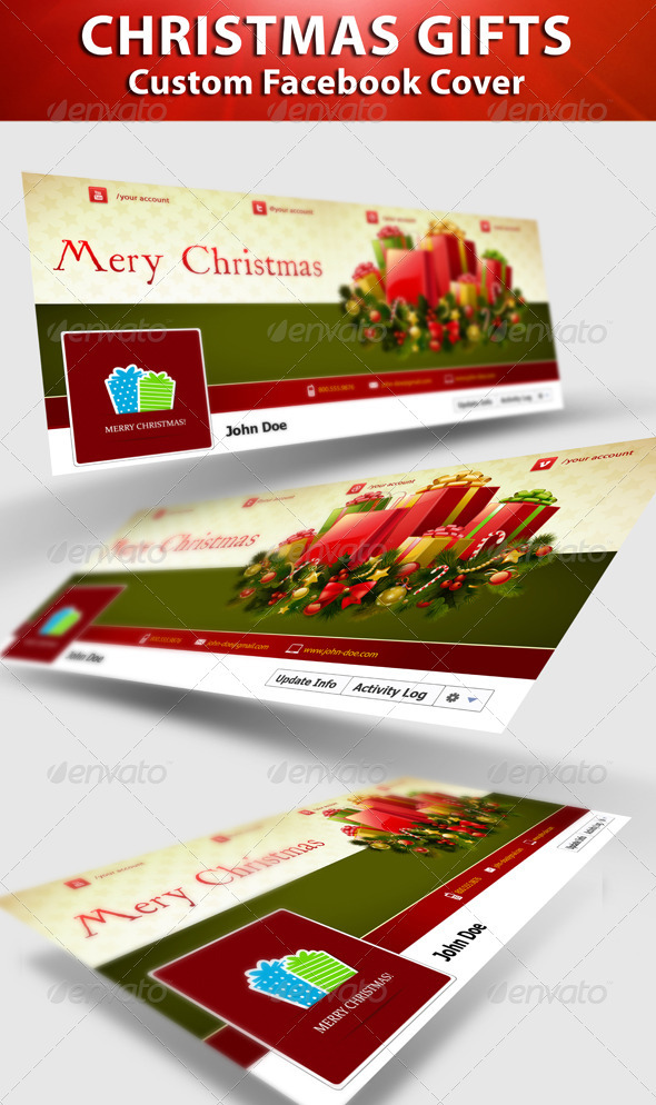 GraphicRiver Christmas Gifts fb Timeline 3339939