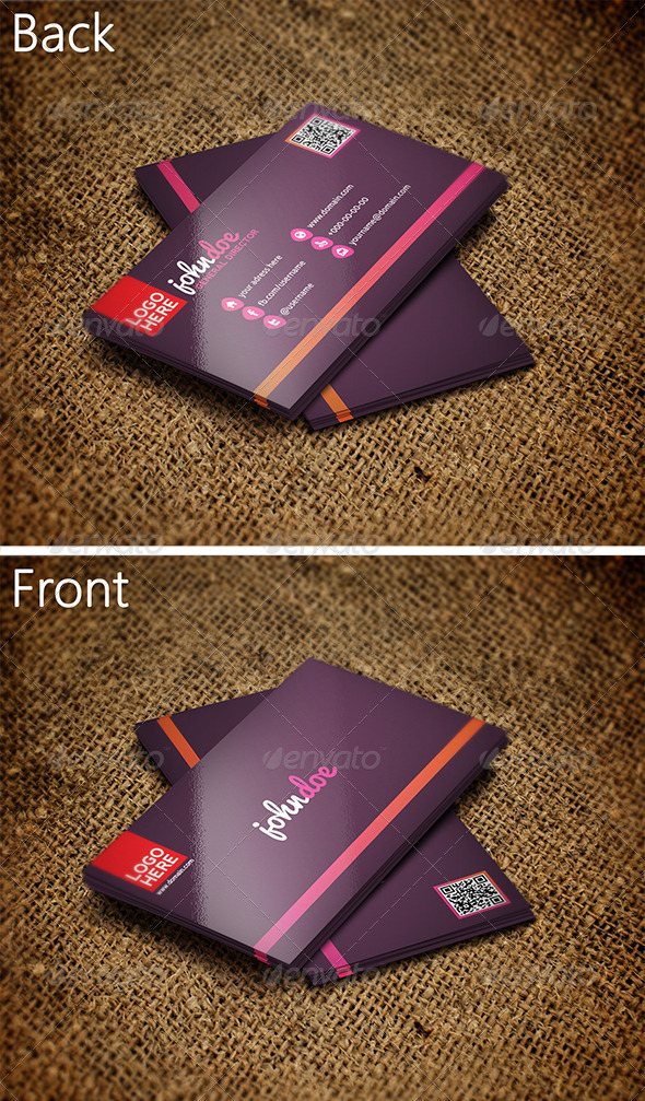GraphicRiver Colorful Business Card 2 3339978