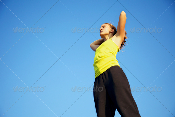 Traceur Warming Up - Stock Photo - Images