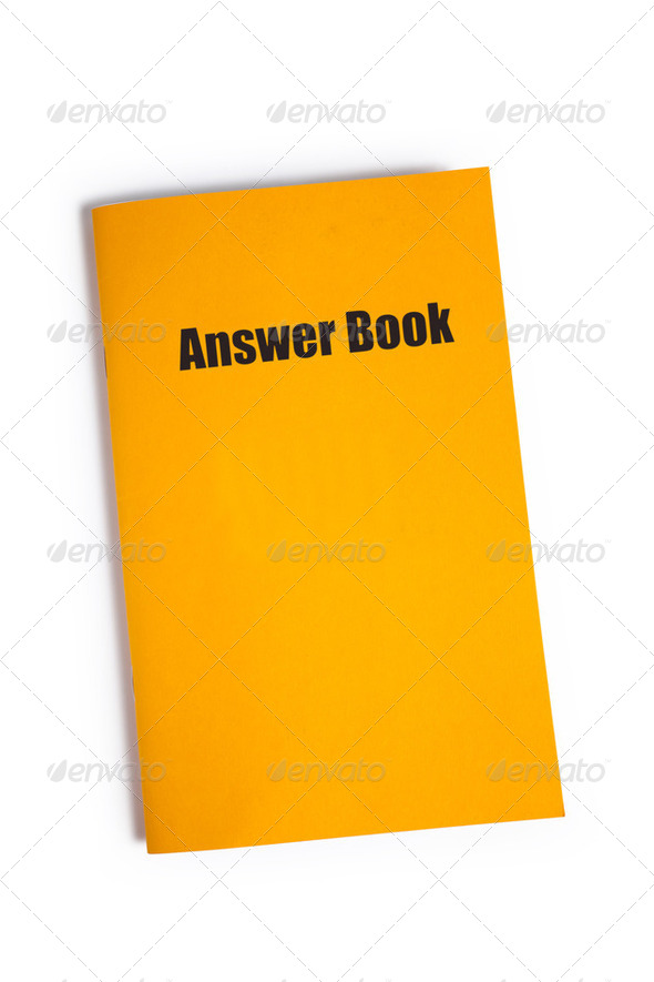 Answer Book - Stock Photo - Images