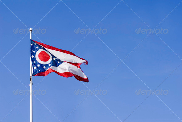 Ohio State Flag - Stock Photo - Images