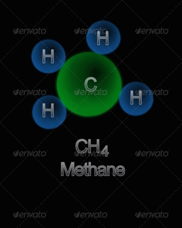 Methane. - Stock Photo - Images