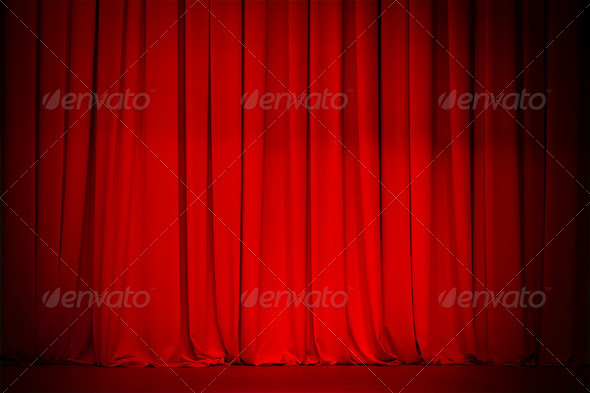 PhotoDune theatre red curtain 2230555