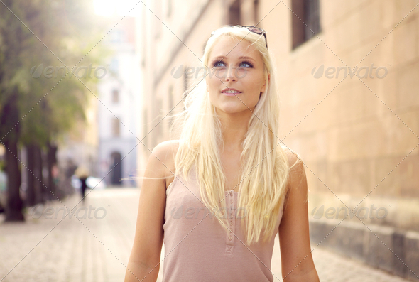 Debonair Urban Woman - Stock Photo - Images