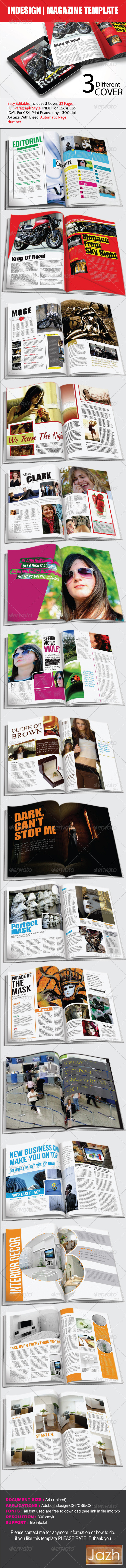 GraphicRiver Magazine Template 3268340