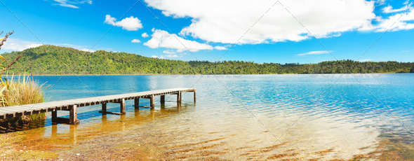 Panorama lake - Stock Photo - Images