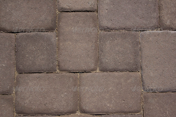 Paver stone walkway - Stock Photo - Images