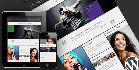 ThemeForest Webzine Magazine & Portfolio Responsive WordPress Theme 1252008