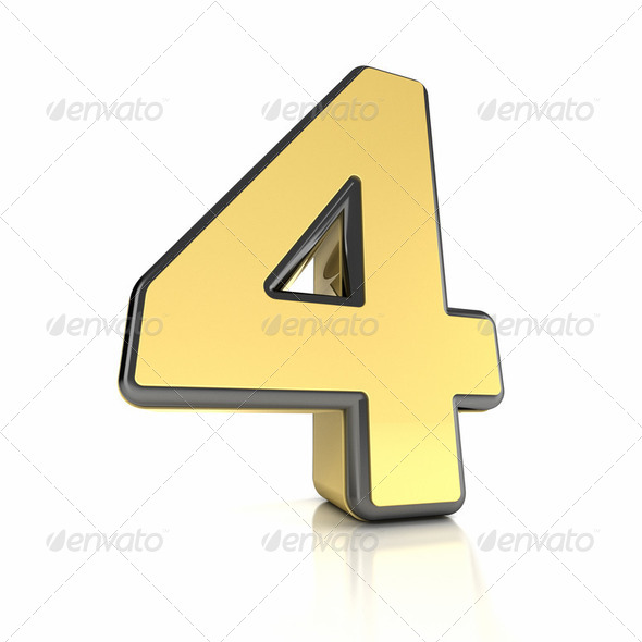 Number Four - Stock Photo - Images