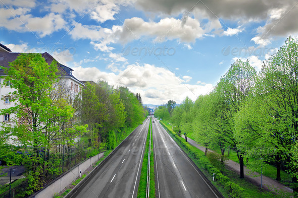 Motorway in the Baden-Baden. Germany - Stock Photo - Images
