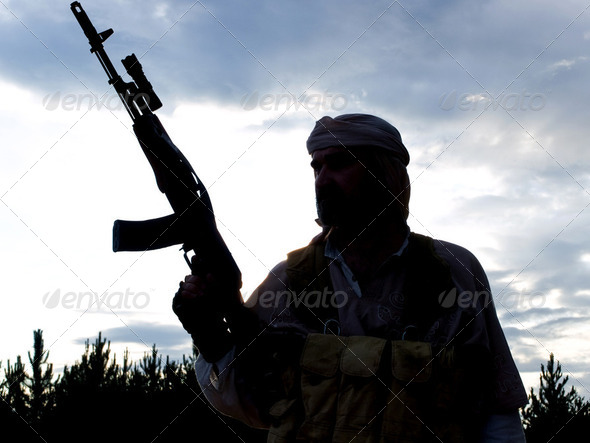 muslim soldier - Stock Photo - Images