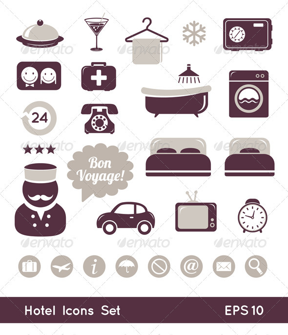 GraphicRiver Hotel Icons Set 3337074