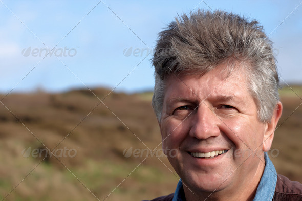 Mature man portrait - Stock Photo - Images