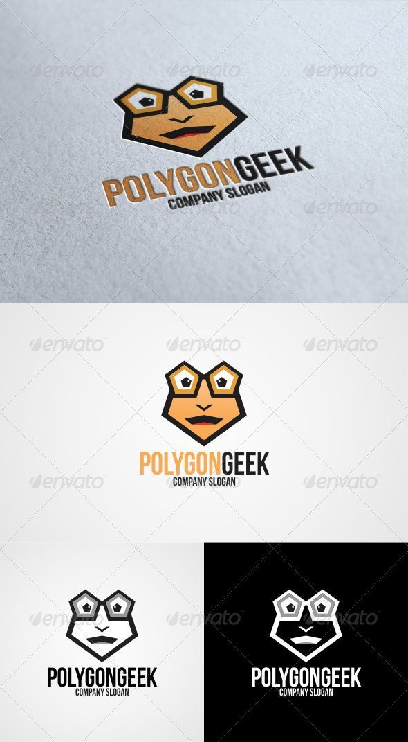 GraphicRiver Polygon Geek Logo Template 3340372