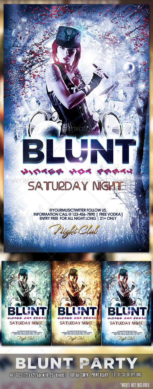 GraphicRiver Blunt Winter Party Flyer 3320497