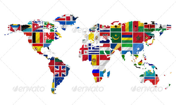 Flags of the world  - Stock Photo - Images