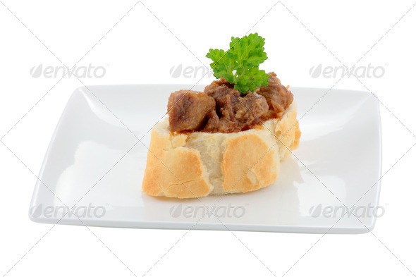 Appetizer meat - Stock Photo - Images