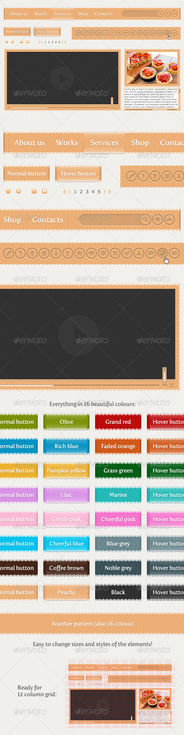 Smooth Zigzag User Interface (UI), web kit - User Interfaces Web Elements