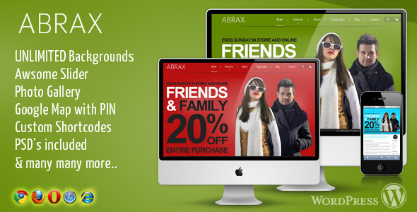 ThemeForest ABRAX WordPress Theme 330991