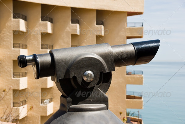 monocular seeing sea - Stock Photo - Images