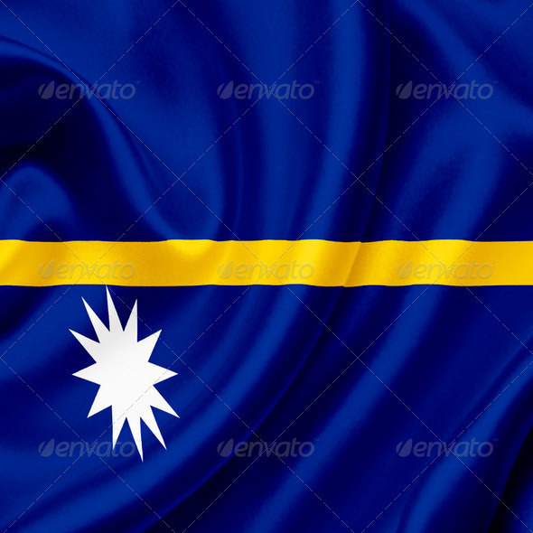 Nauru waving flag - Stock Photo - Images