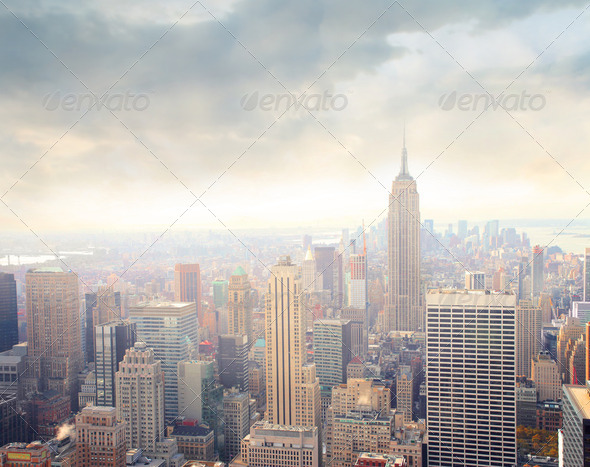 Sunset in New York - Stock Photo - Images