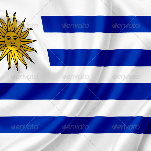 Uruguay waving flag - Stock Photo - Images