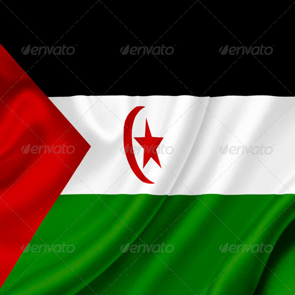Western Sahara waving flag - Stock Photo - Images